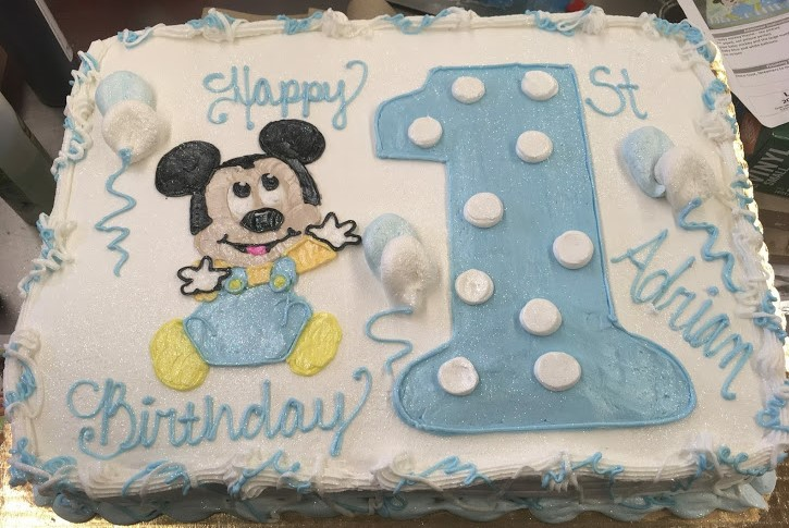 Pleasing Baby Mickey Mouse Busken Bakery Funny Birthday Cards Online Elaedamsfinfo